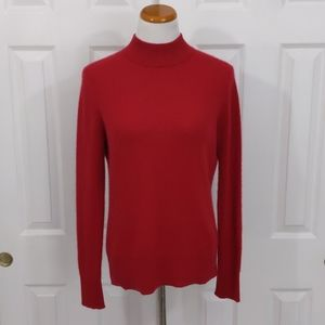 Investments Red 100% Cashmere Sweater Size M
